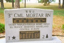 Memorial to the 3rd Cml Mortar Bn – click to enlarge