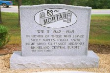 Memorial to the 83rd Cml Mortar Bn – click to enlarge