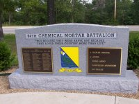 Memorial to 84th Cml Mortar Bn – click to enlarge