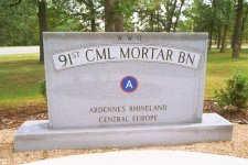 Memorial to 91st Cml Mortar Bn – click to enlarge
